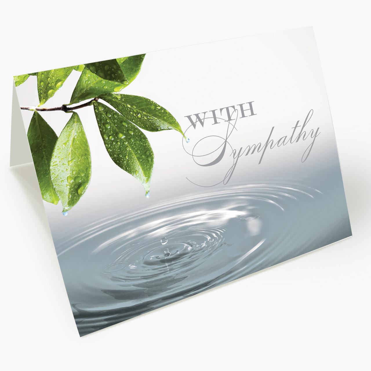 Serene Water Drop Sympathy Card
