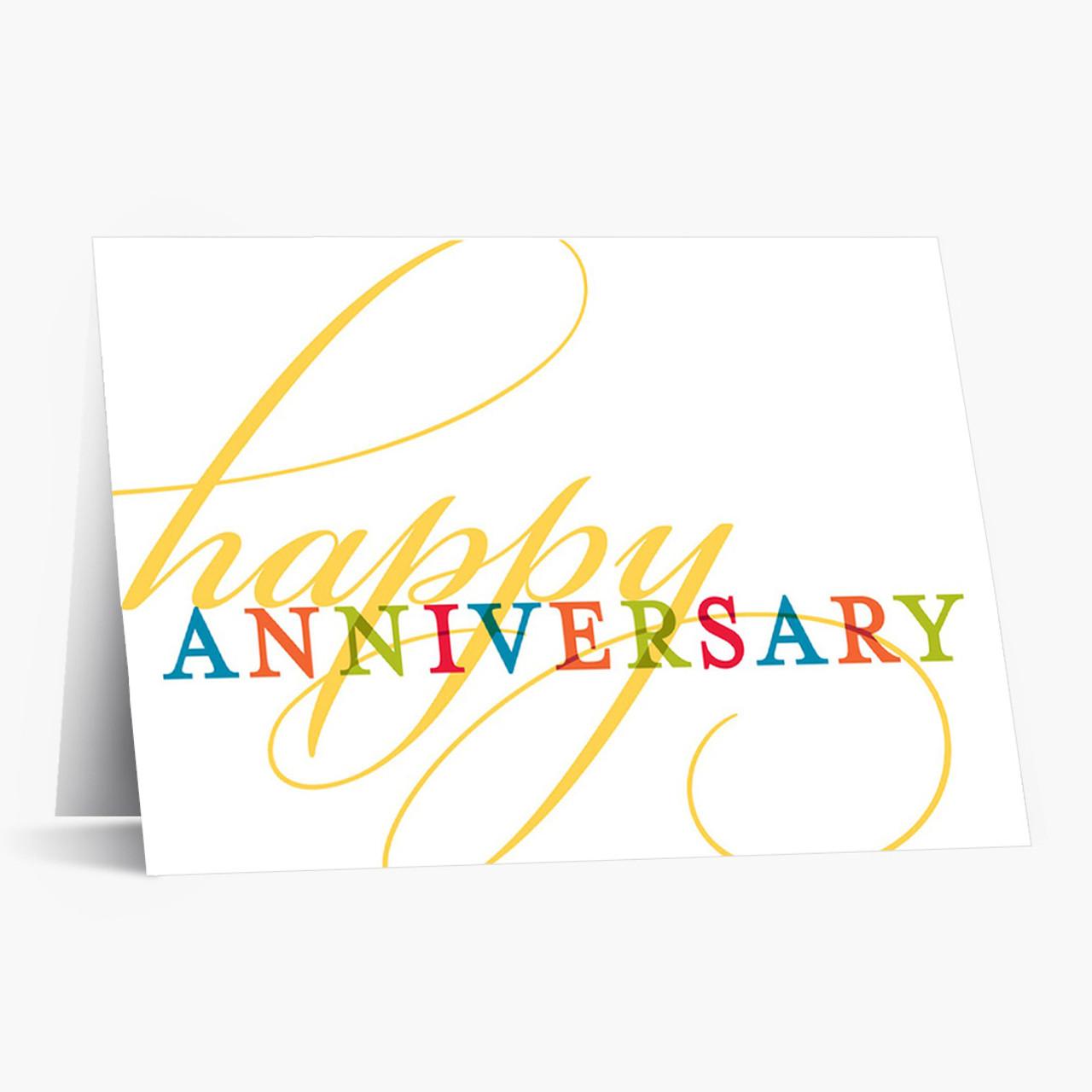 Golden Flourish Anniversary Card