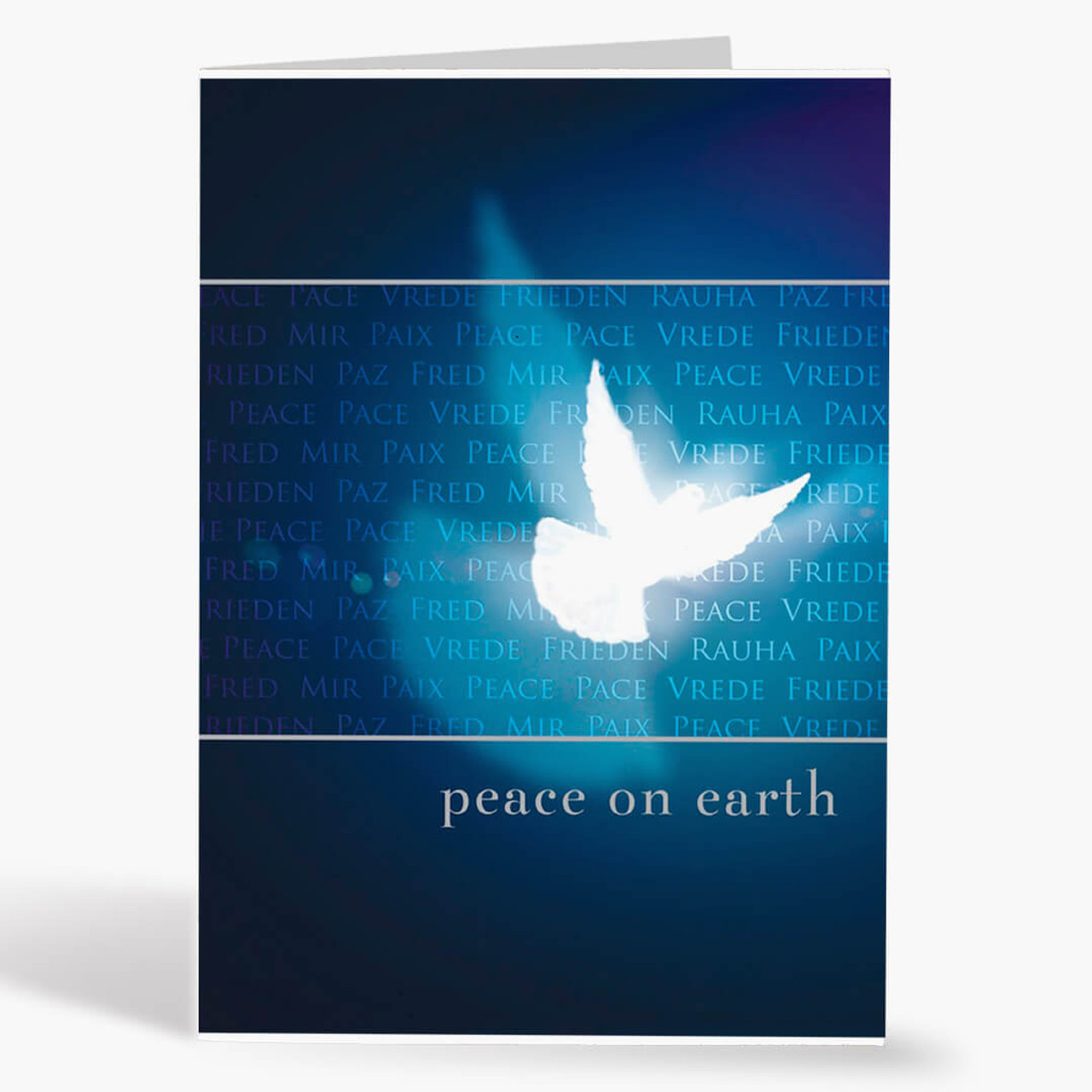Peace Dove Shadow Christmas Card