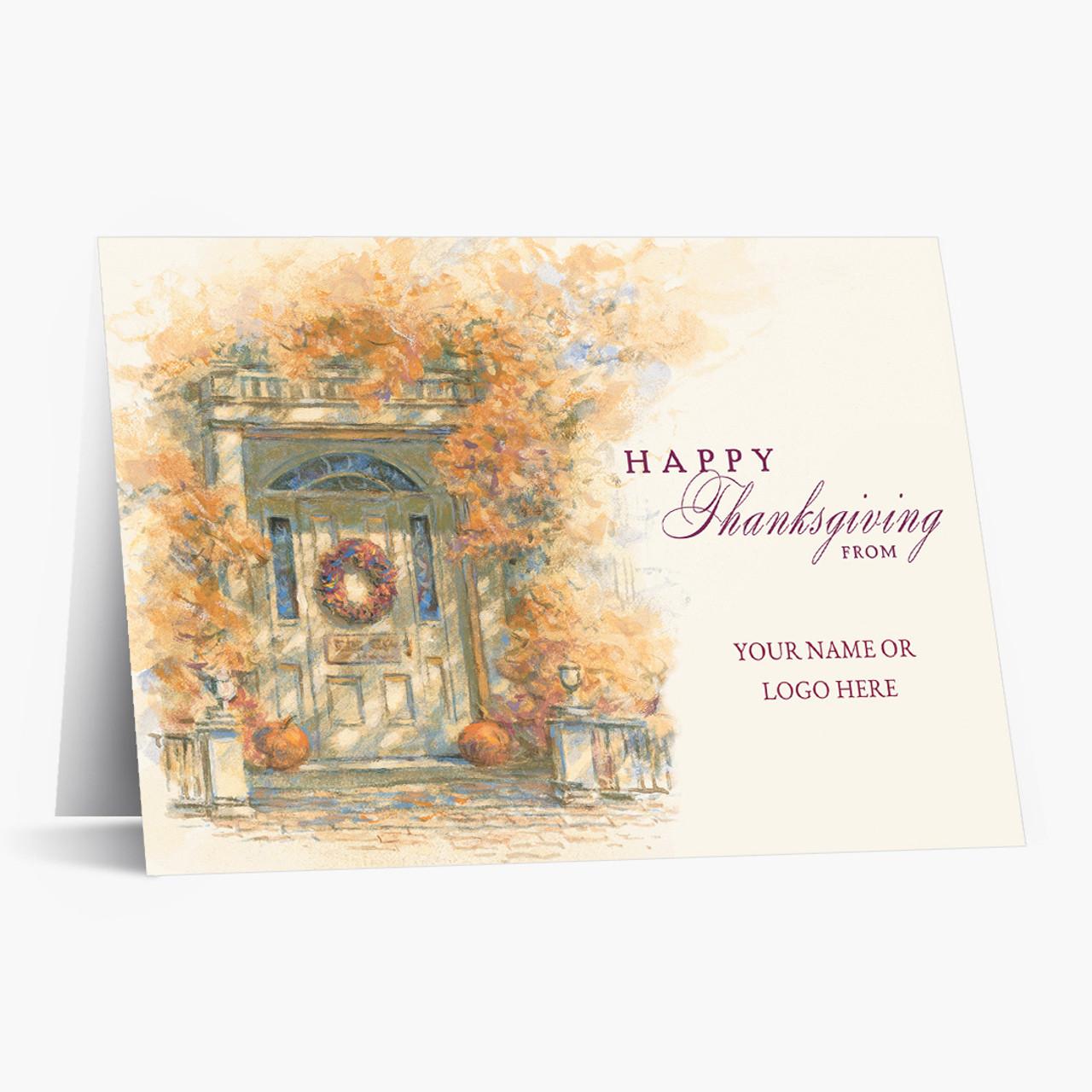 Autumn Foliage Thanksgiving Card