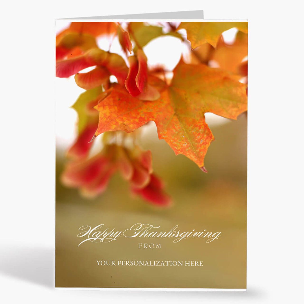 Autumn's Warmth Thanksgiving Card