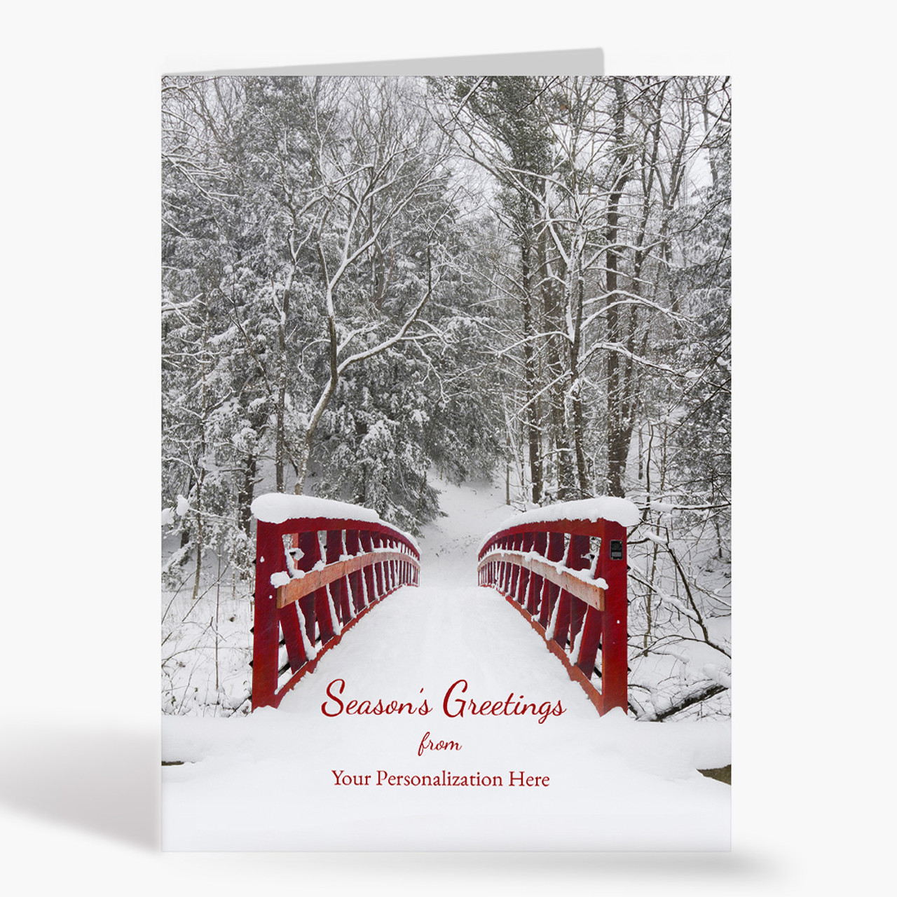Front Imprint Serenity Christmas Card