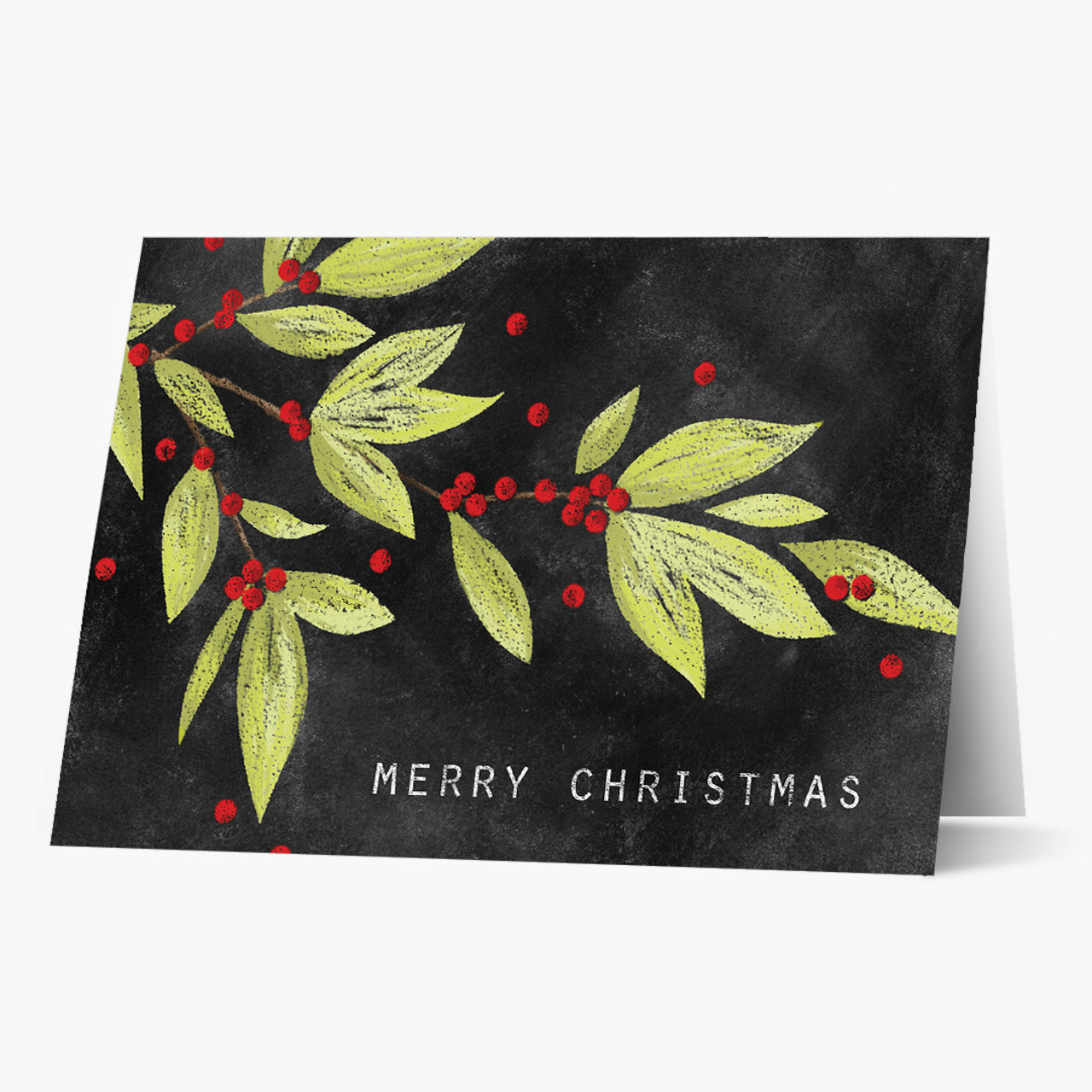 Chalk Art Christmas Card