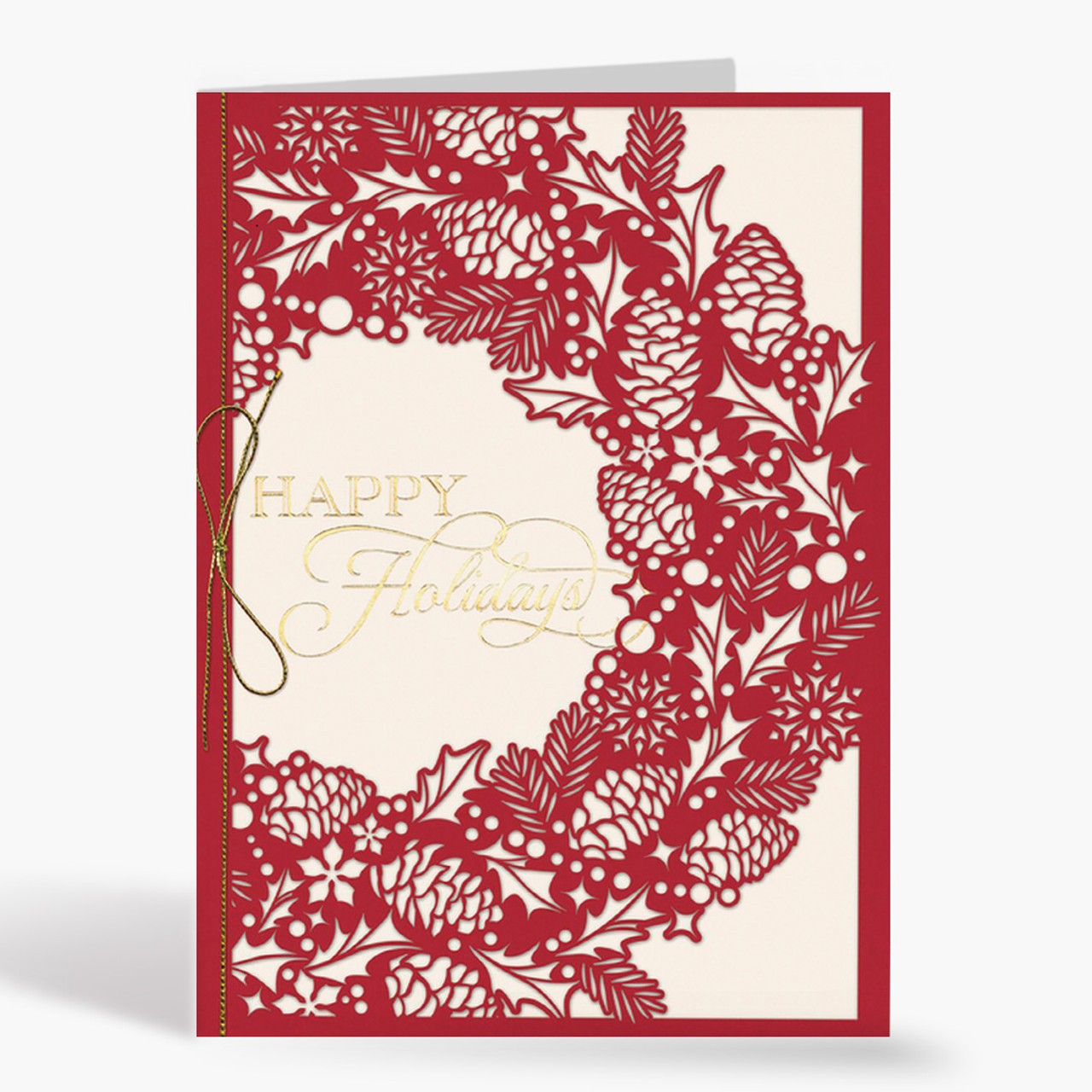 Intricate Wreath Christmas Card