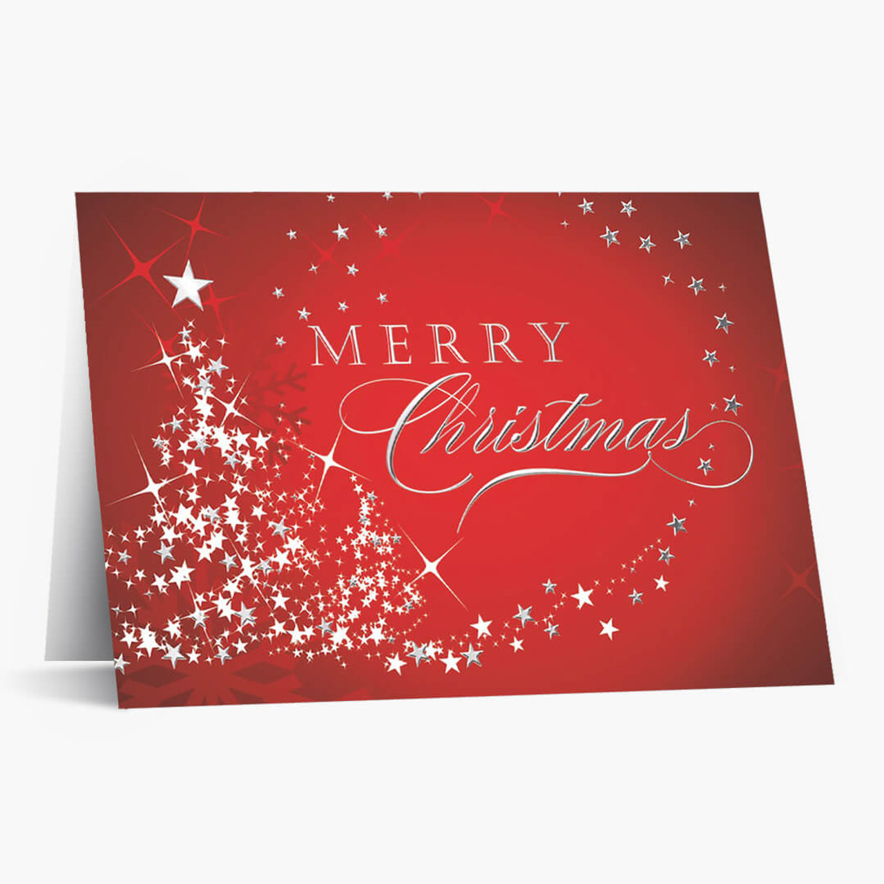 Starry Tree Christmas Card