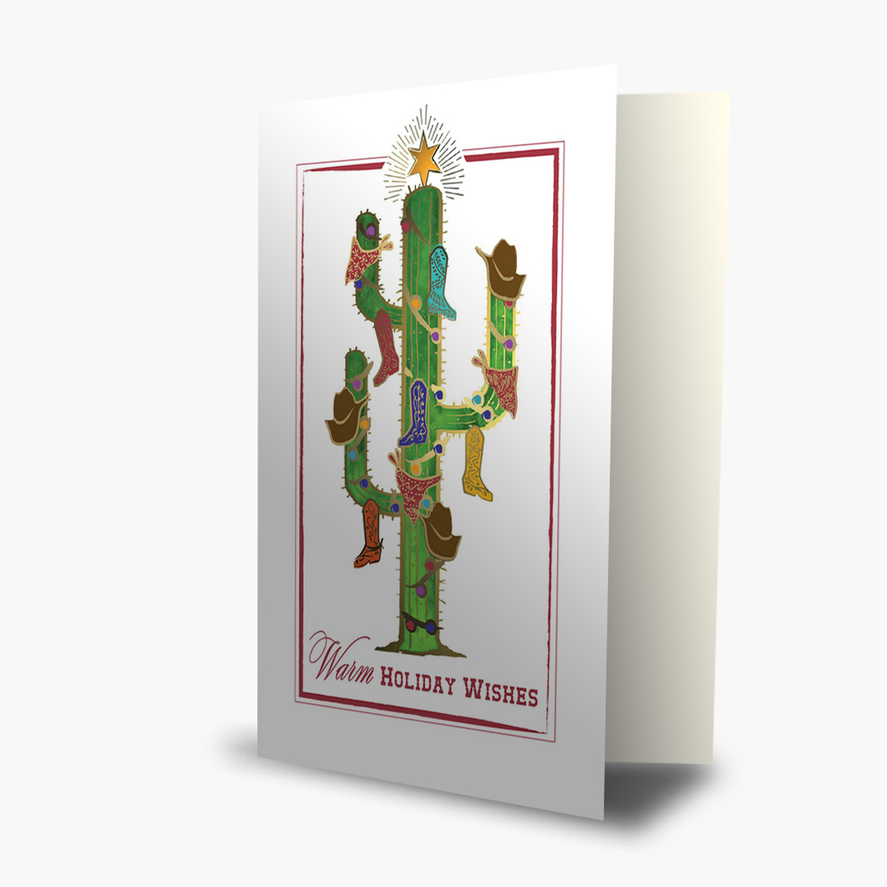 Cactus Tree Christmas Card