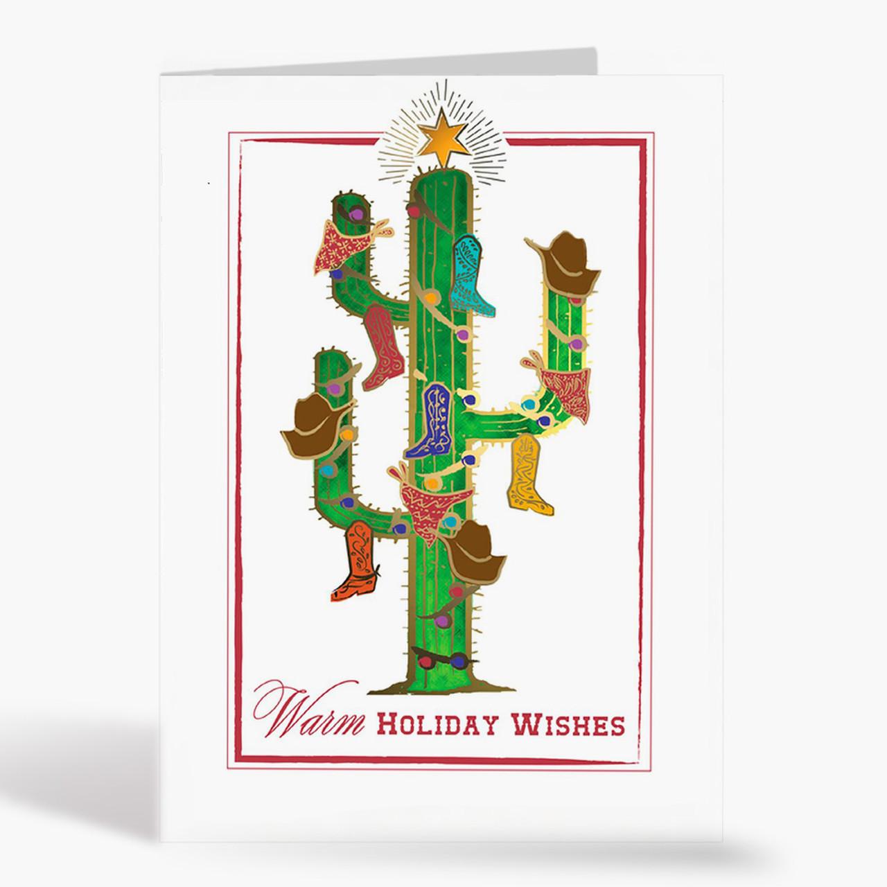Cactus Tree Christmas Card