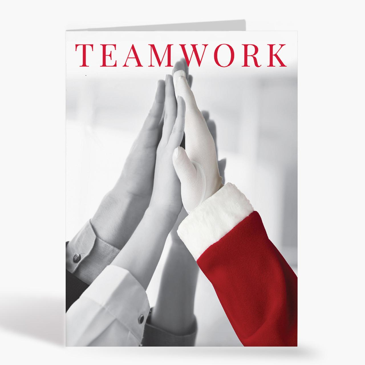 Teamwork Hands Christmas Card