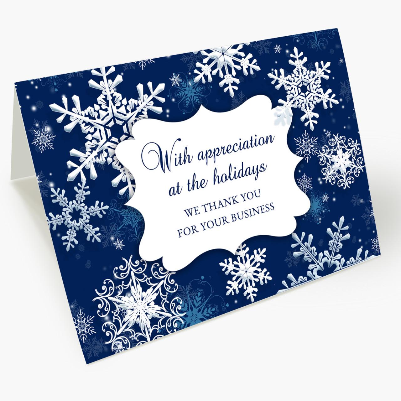 Appreciation Snowfall Christmas Card