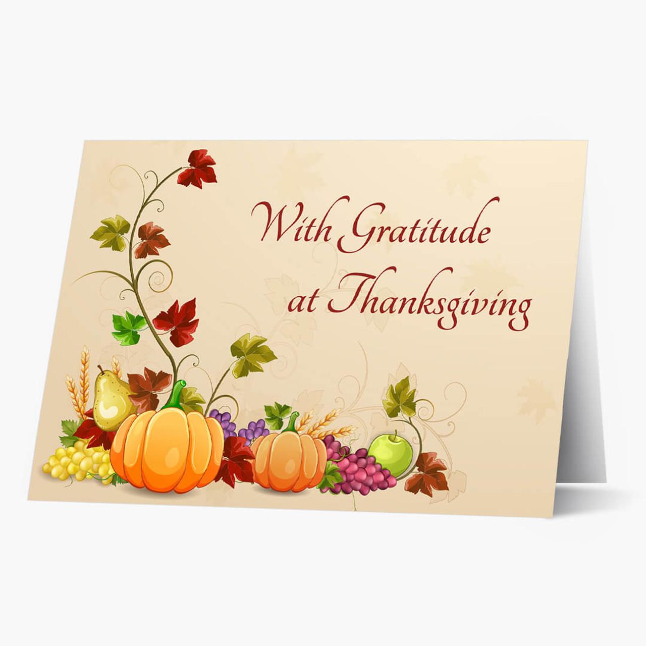 Bountiful Gratitude Thanksgiving Card