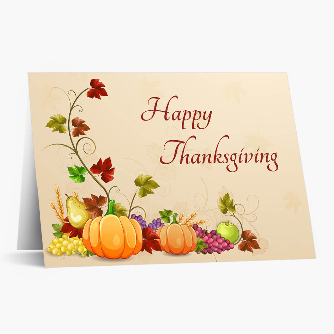 Sweet Autumn Wishes Thanksgiving Card