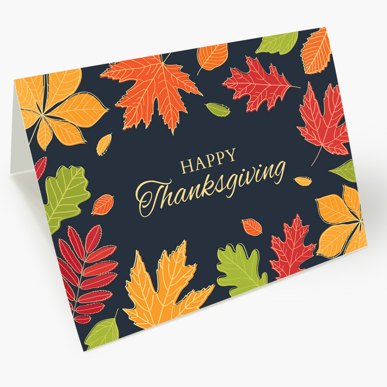 Bright Autumn Wishes Thanksgiving Card
