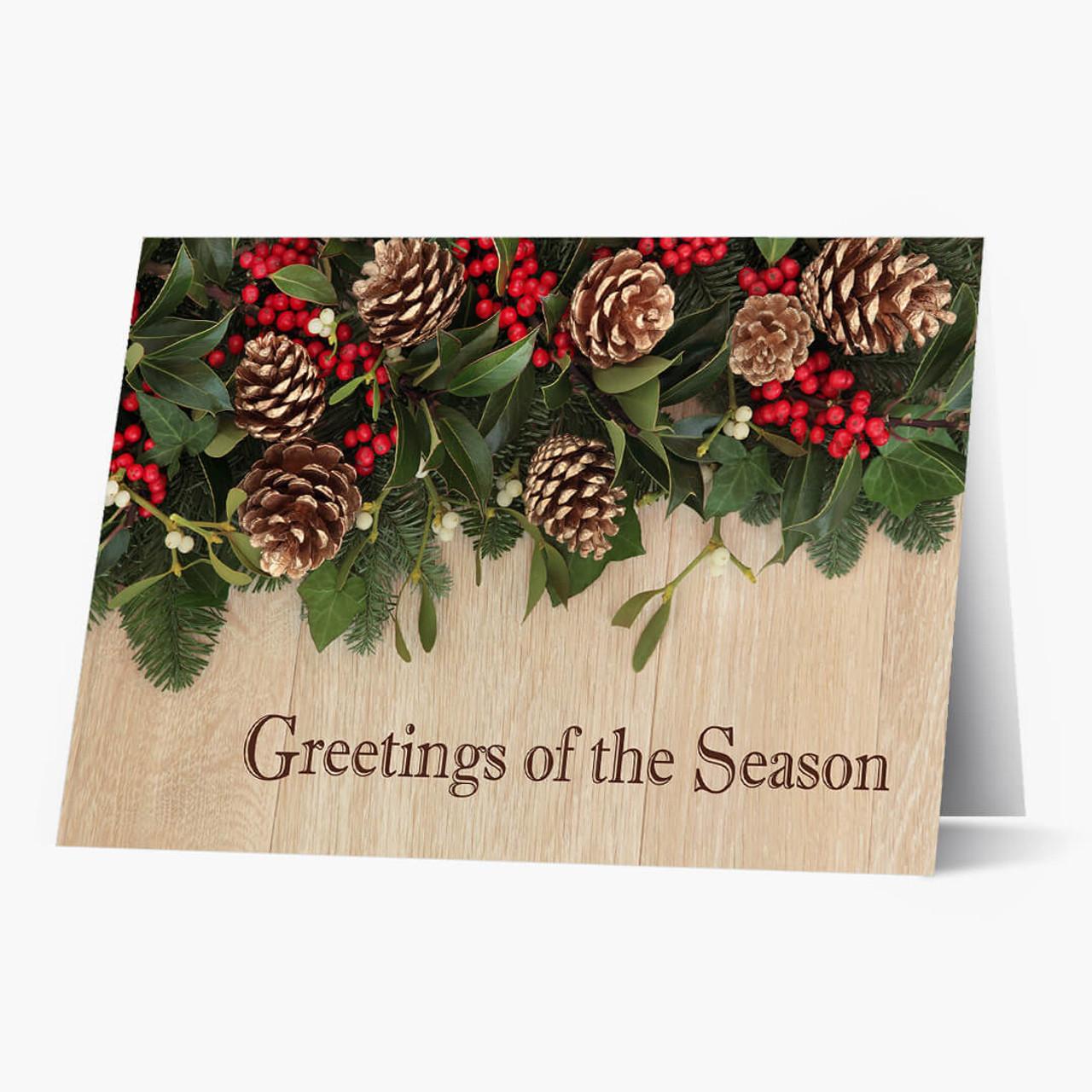 Seasonal Decor Christmas Card