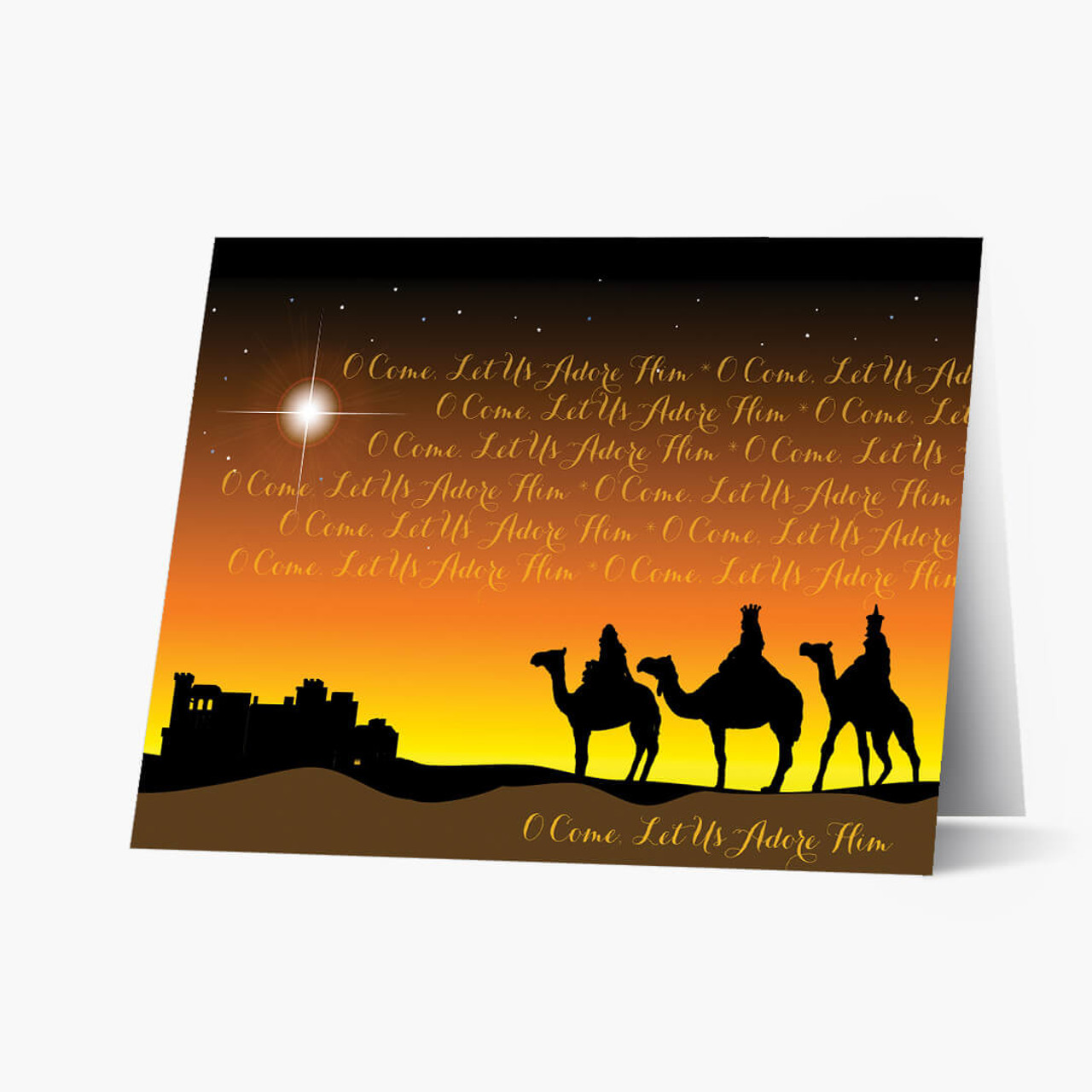 Wise Men Adore Him Christmas Card