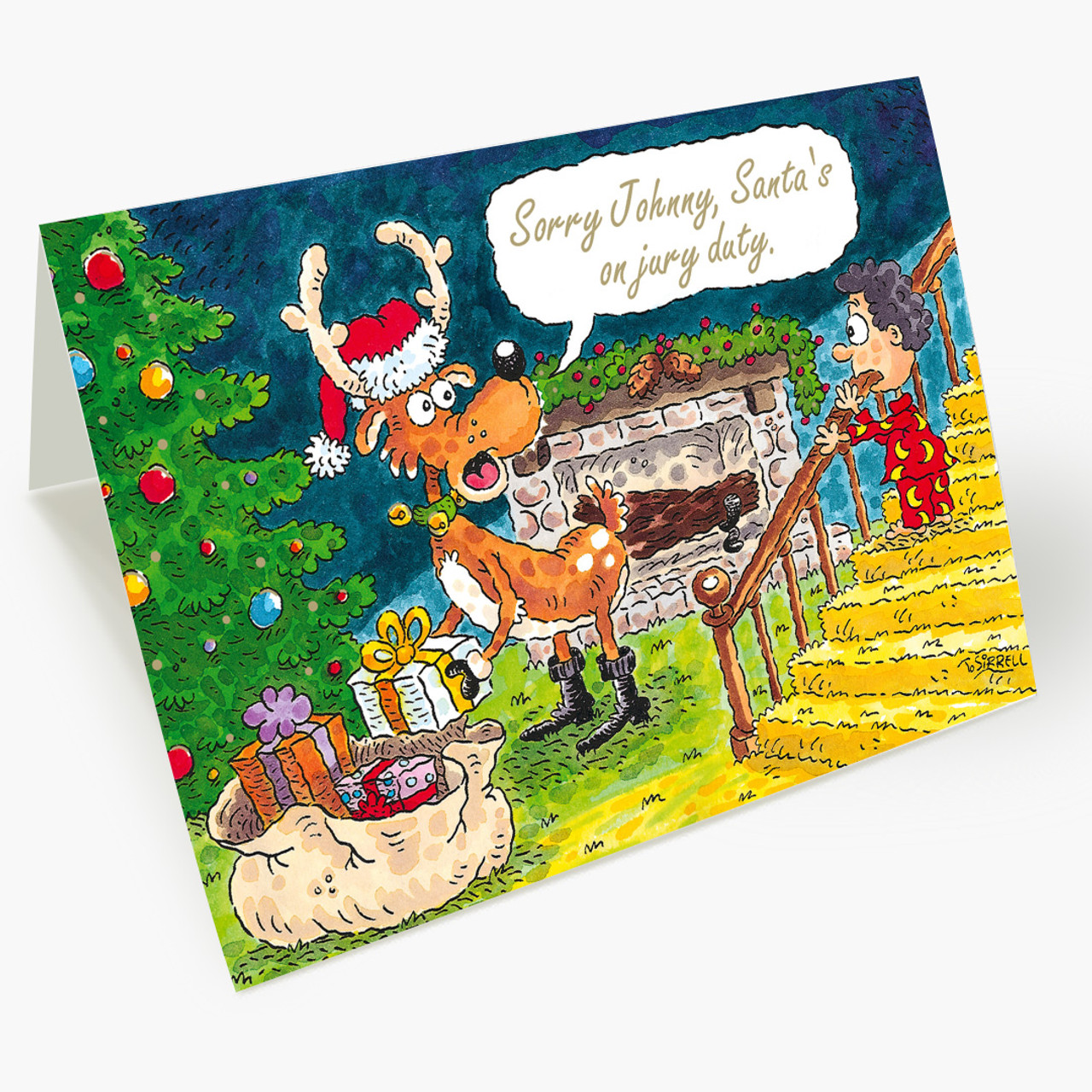Jury Duty Santa Christmas Card
