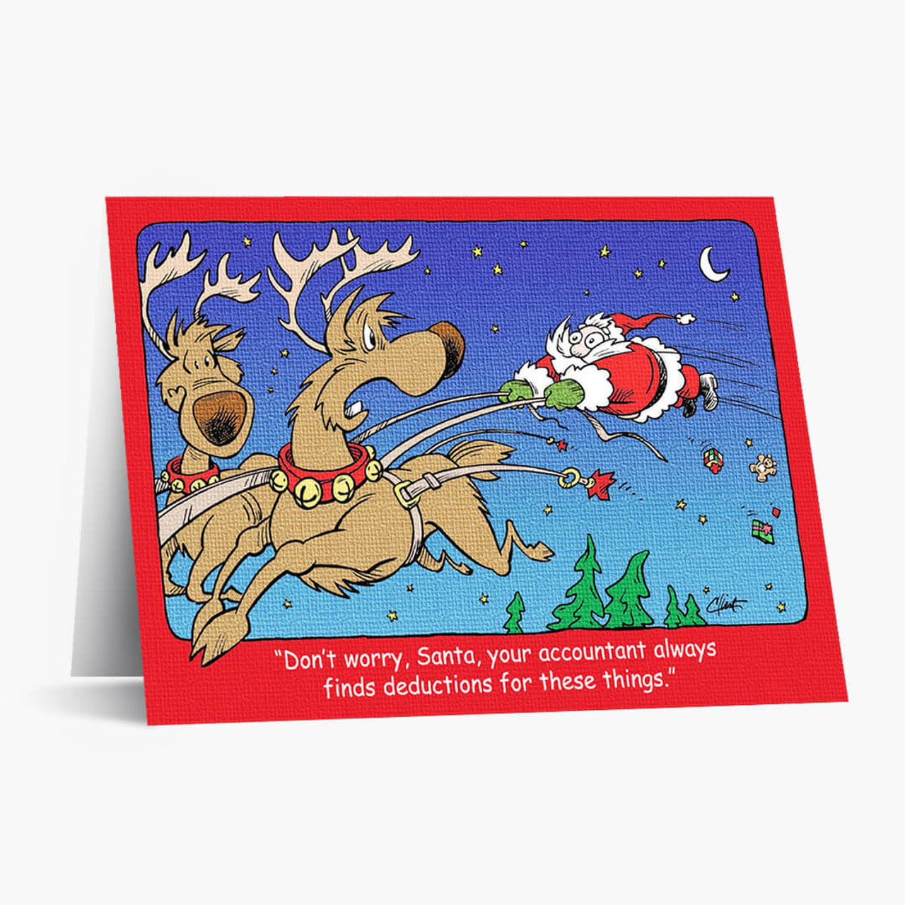 Holiday Deductions Christmas Card