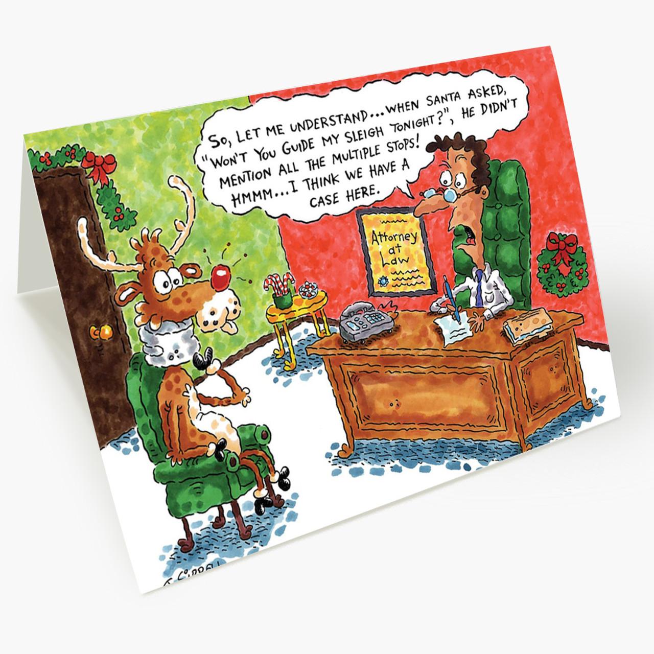 Sleigh Stops Christmas Card