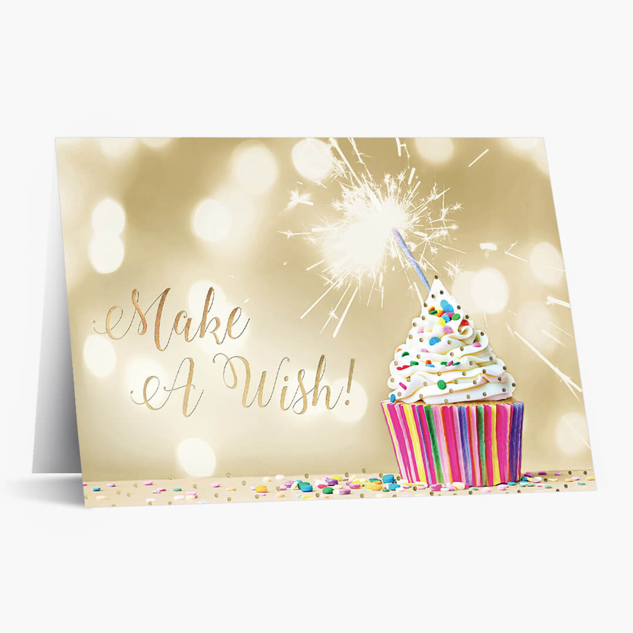 Make a Wish Cupcake Birthday Card