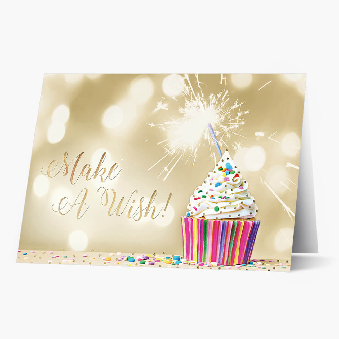 Make a Wish Cupcake Birthday Card