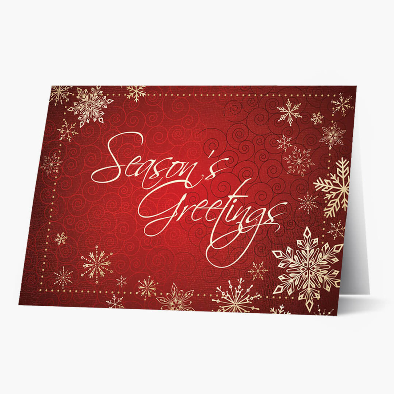 Season's Greetings Snowflakes Christmas Card