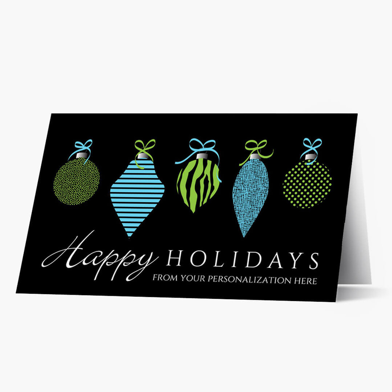 Holiday Ornaments Christmas Card