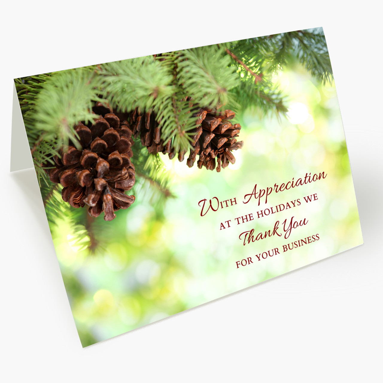 Appreciation At Holidays Christmas Card