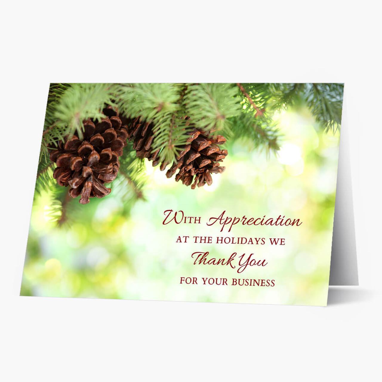 Appreciation At Holidays Christmas Card