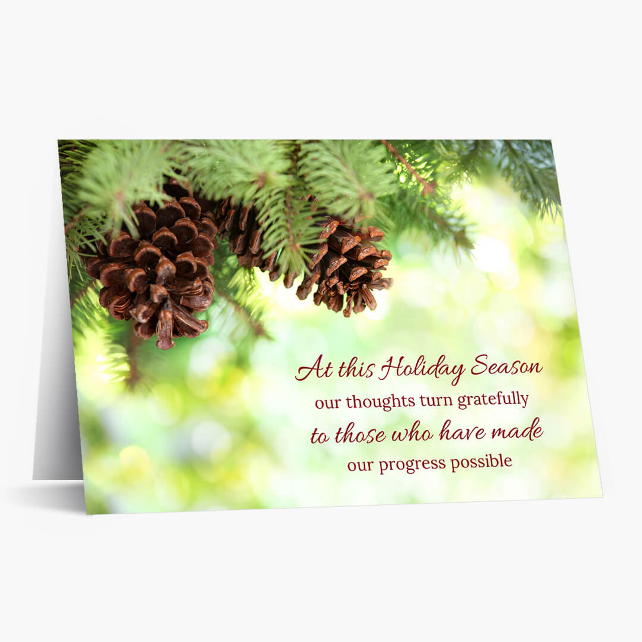 Grateful Greenery Christmas Card