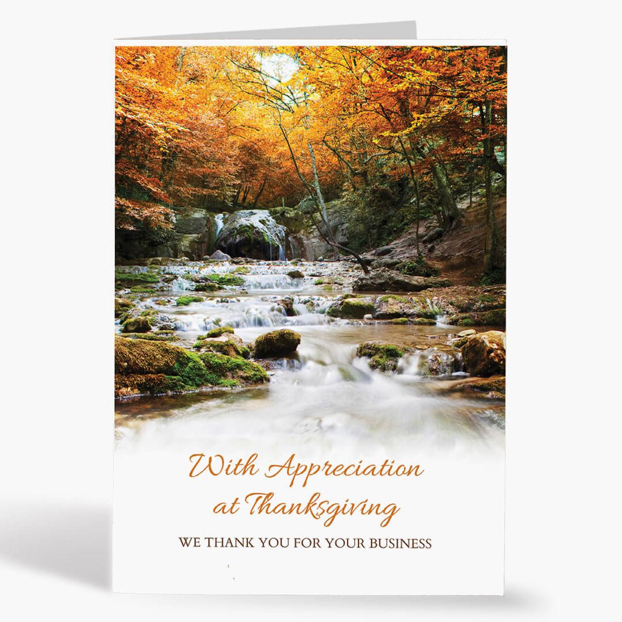 Appreciation Waterfall Thanksgiving Card