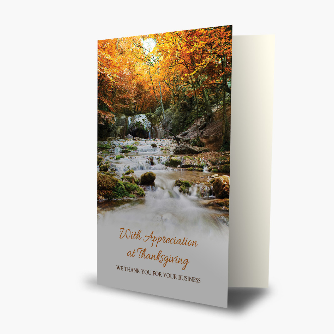 Appreciation Waterfall Thanksgiving Card