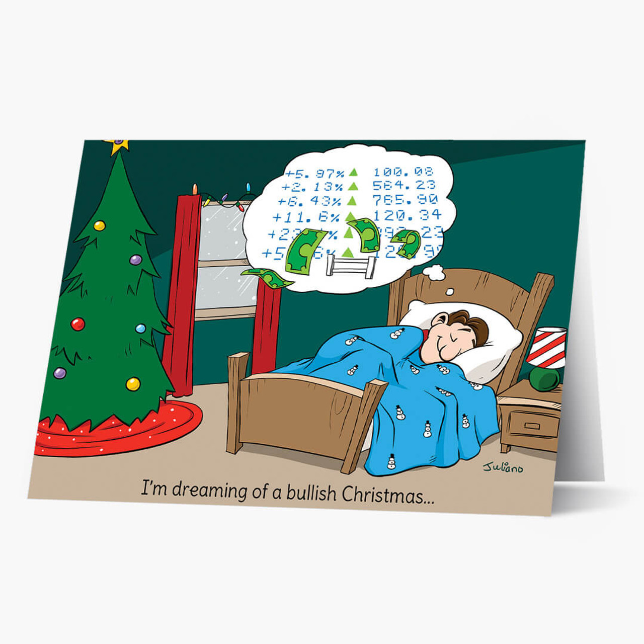 Bull Christmas Card