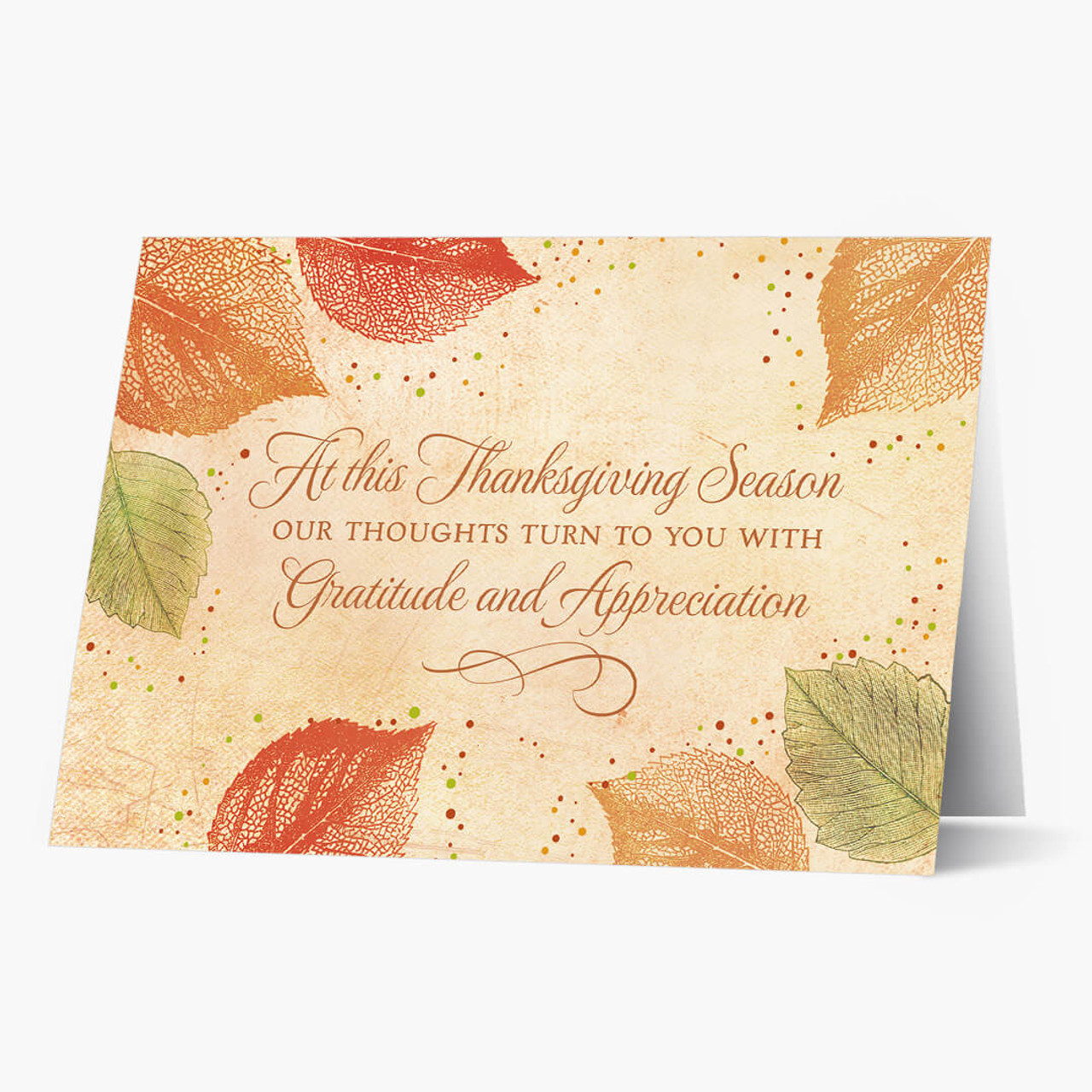 With Gratitude Thanksgiving Card