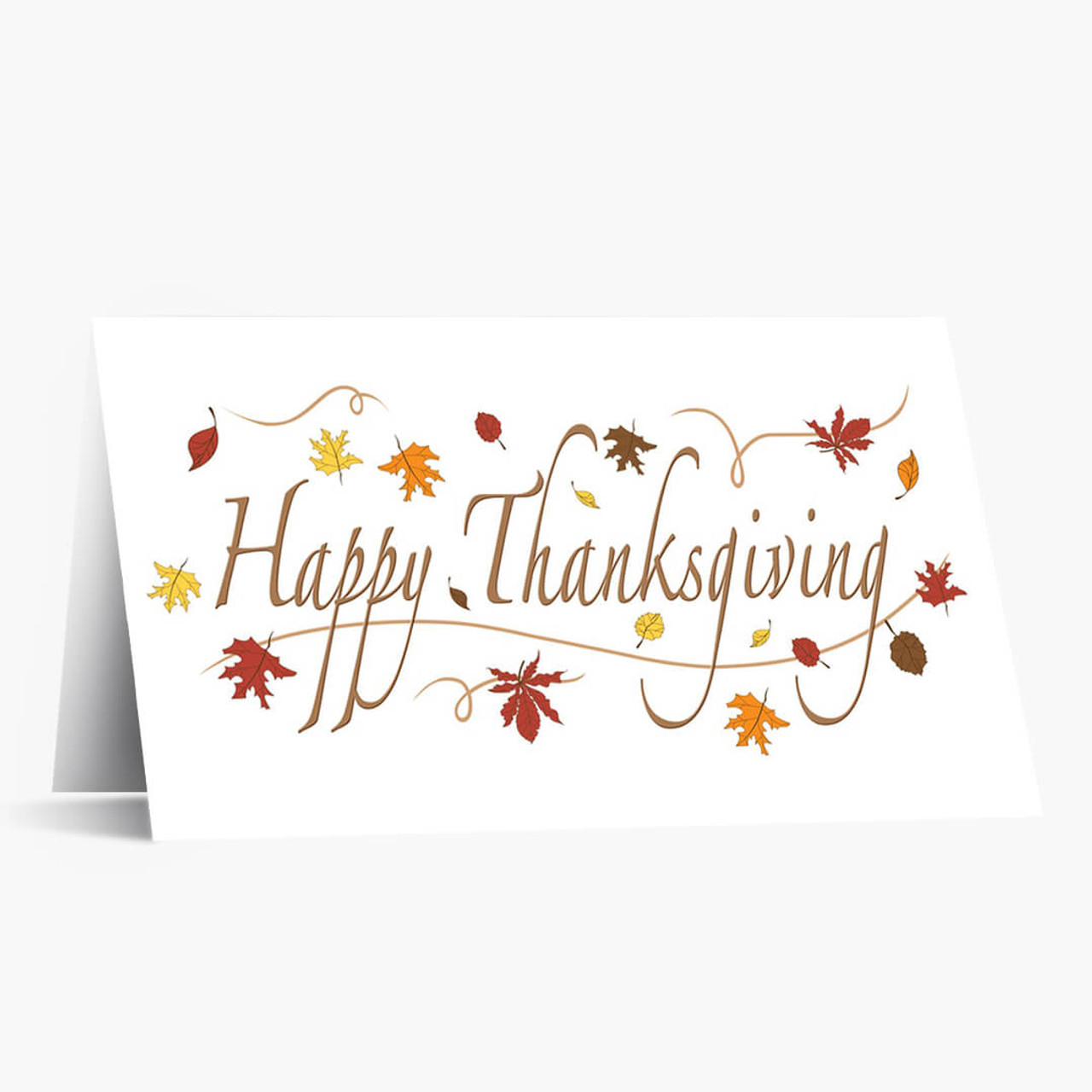 Happy Thanksgiving Foliage Card