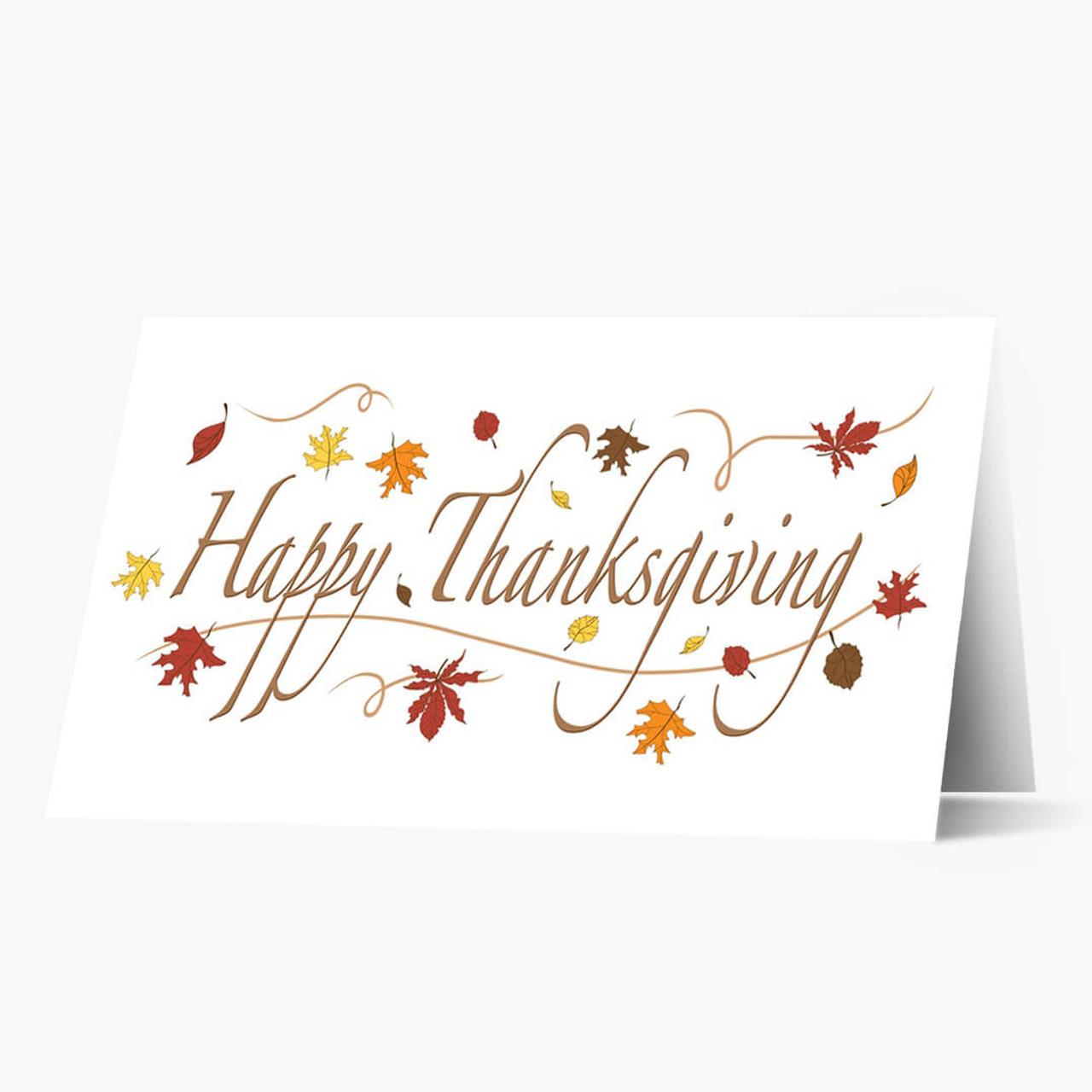 Happy Thanksgiving Foliage Card