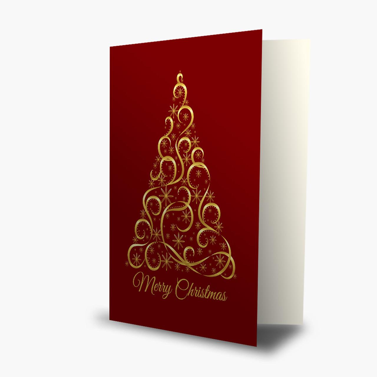 Red Christmas Elegance Card