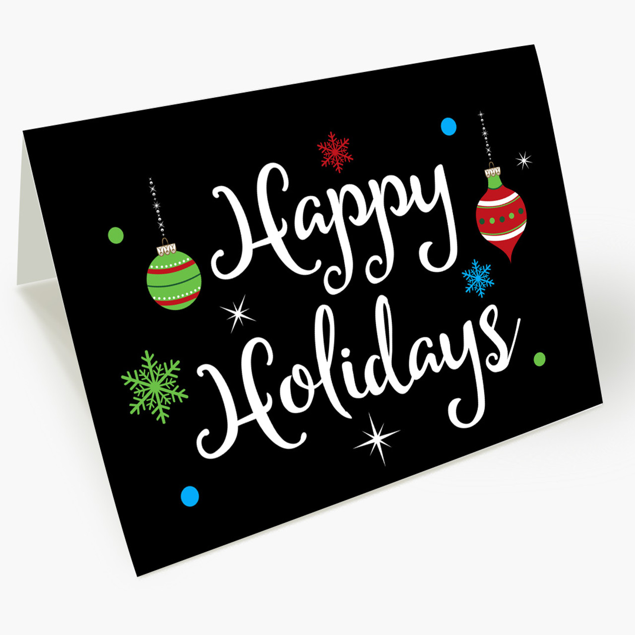 Cheerful Greetings Christmas Card