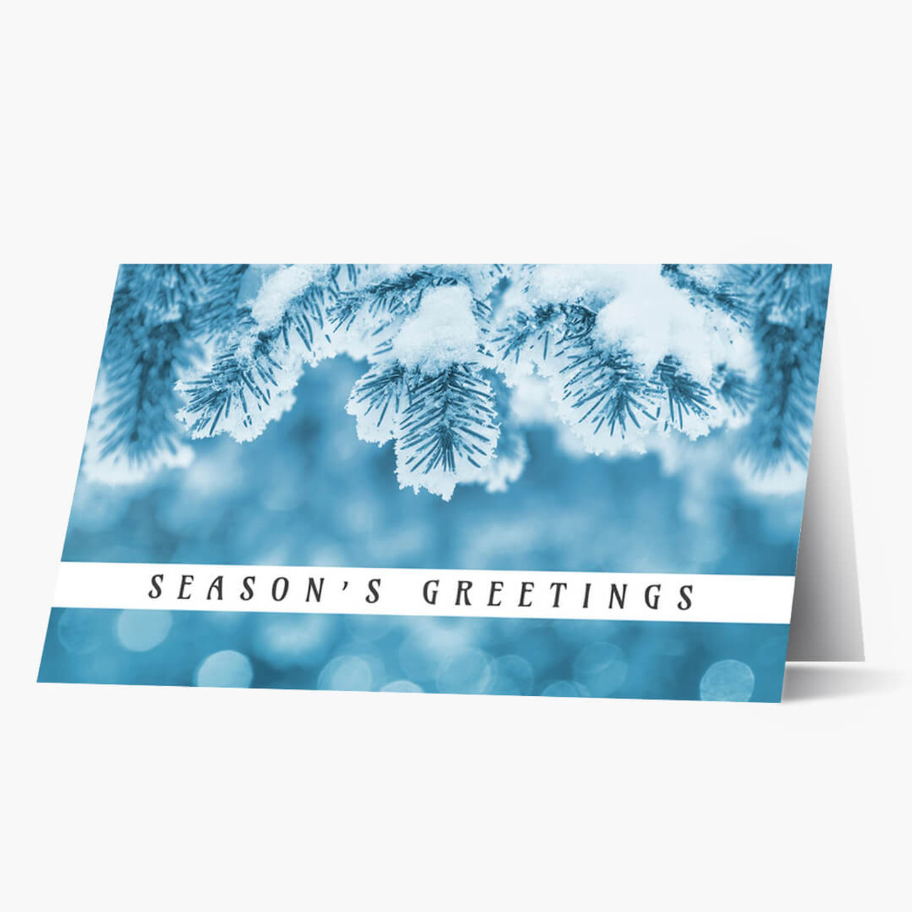 Shades of Blue Christmas Card