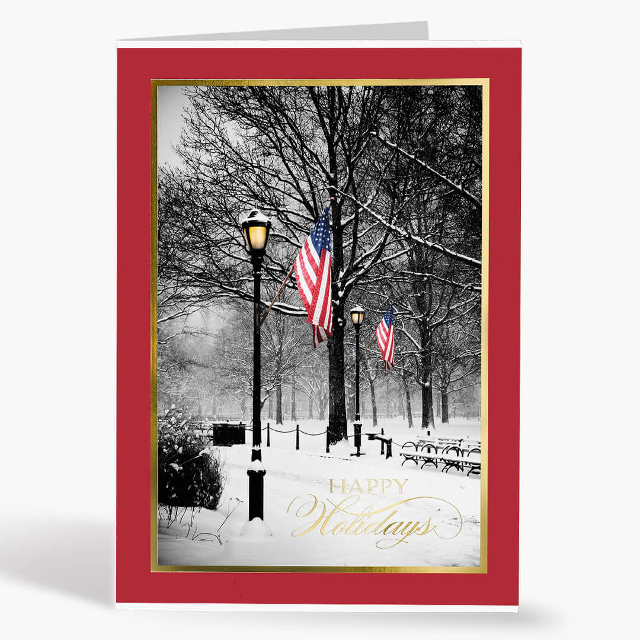 Patriotic Park Christmas Card