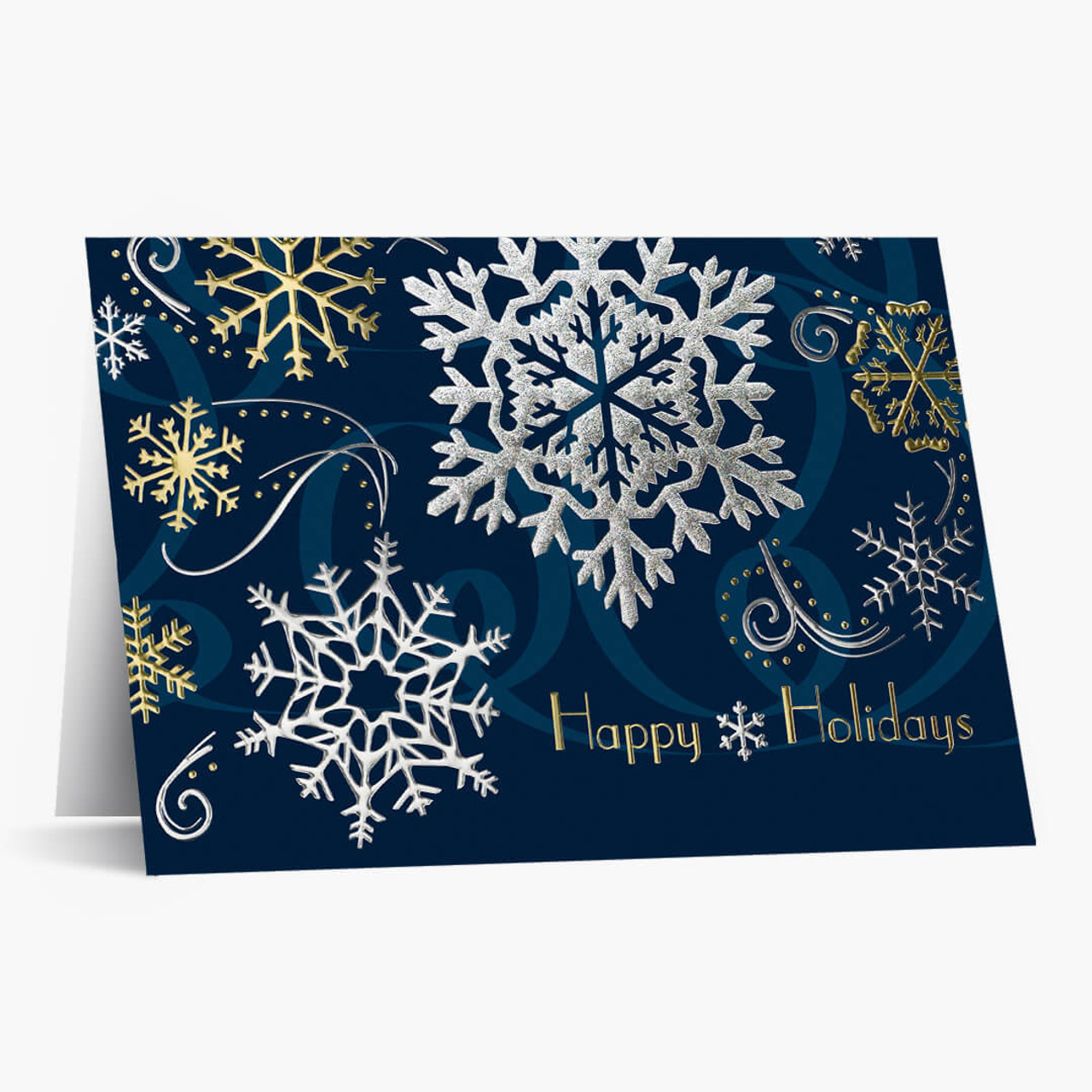Foil Snowflakes Christmas Card