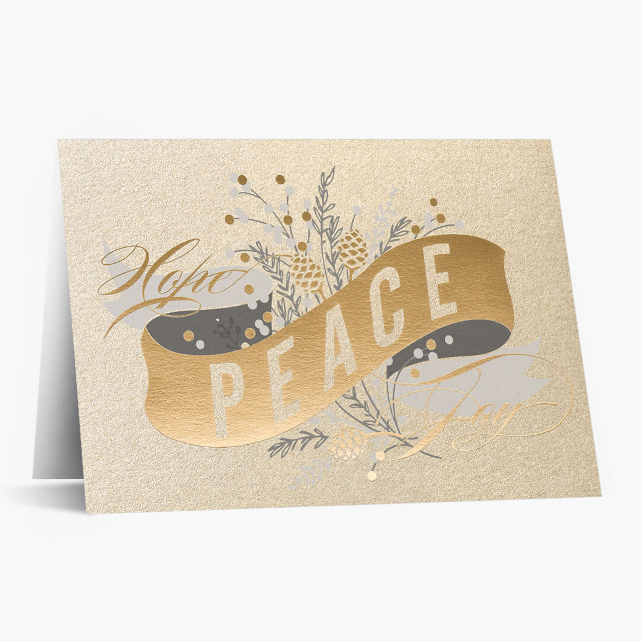 Ribbon Of Peace Christmas Card