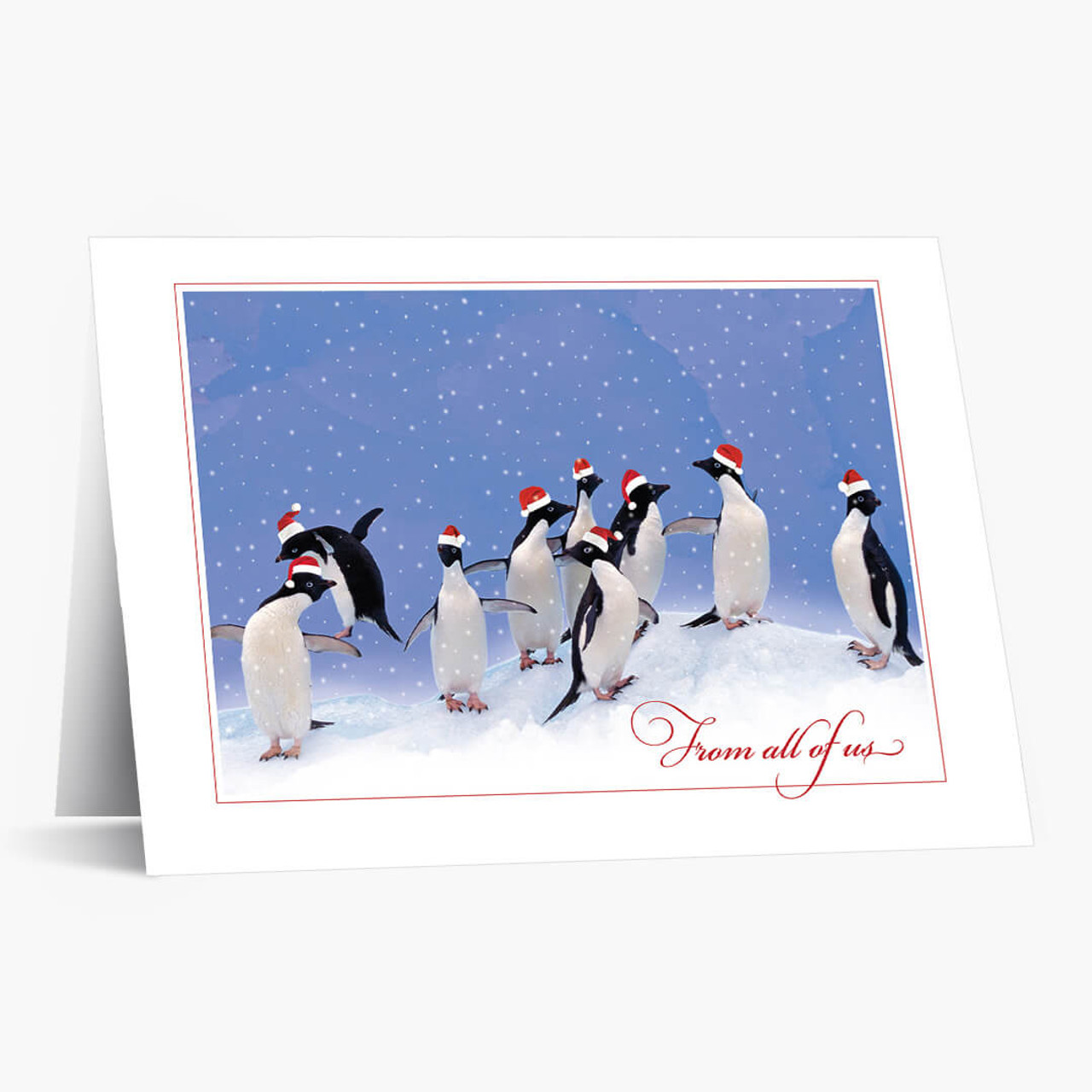 Penguin Party Christmas Card