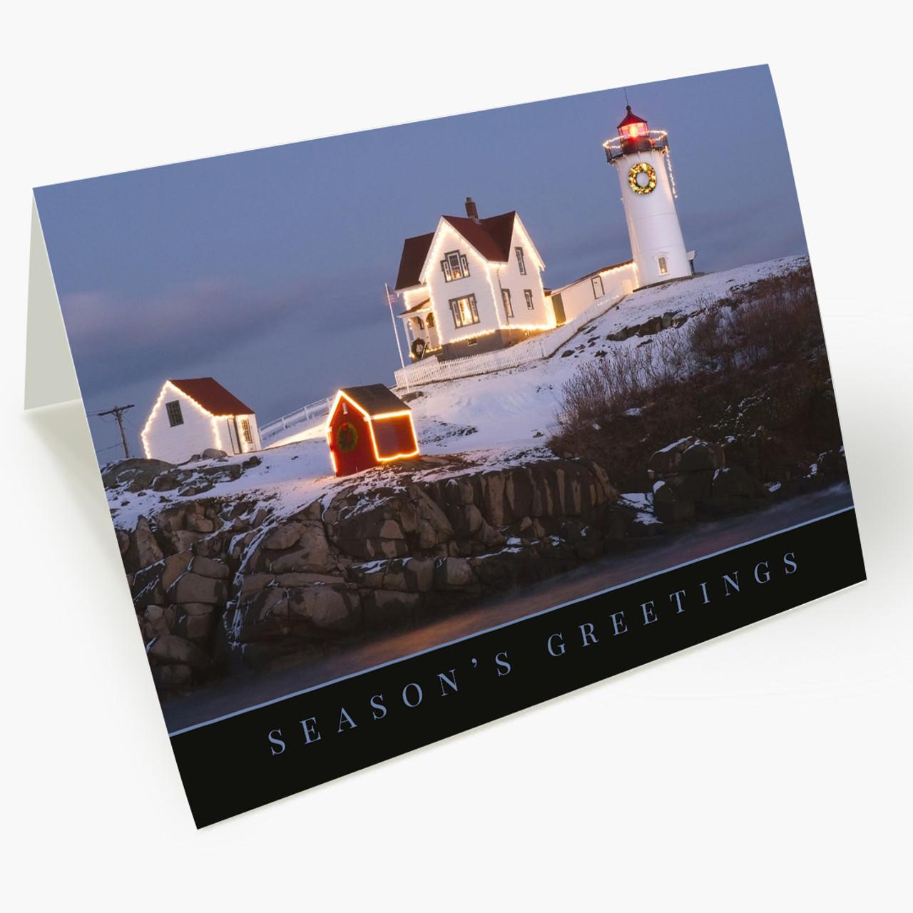 Festive Lighthouse Christmas Card