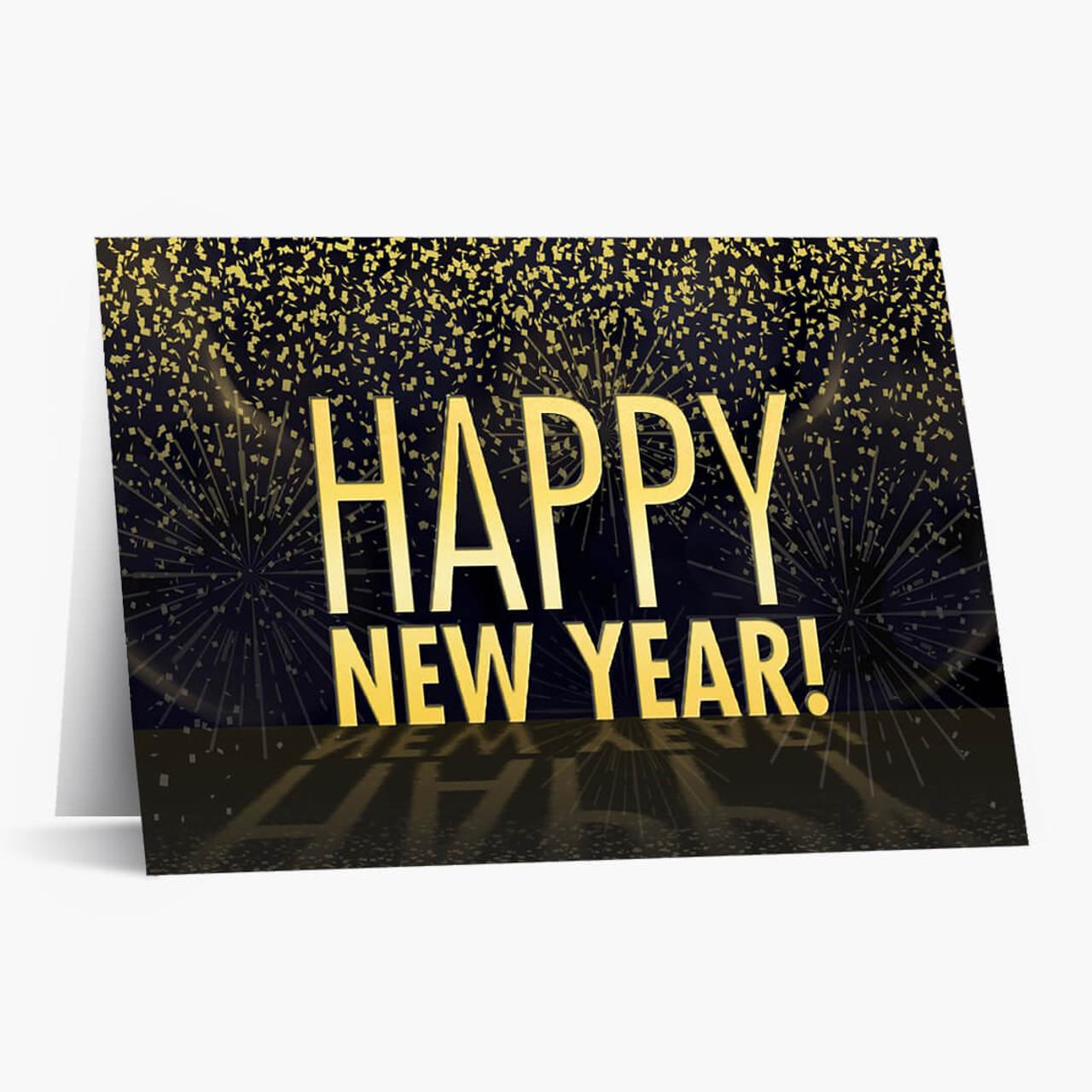 Big Happy New Year Christmas Card