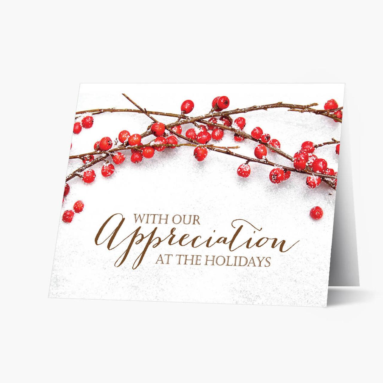 Berry Appreciation Christmas Card