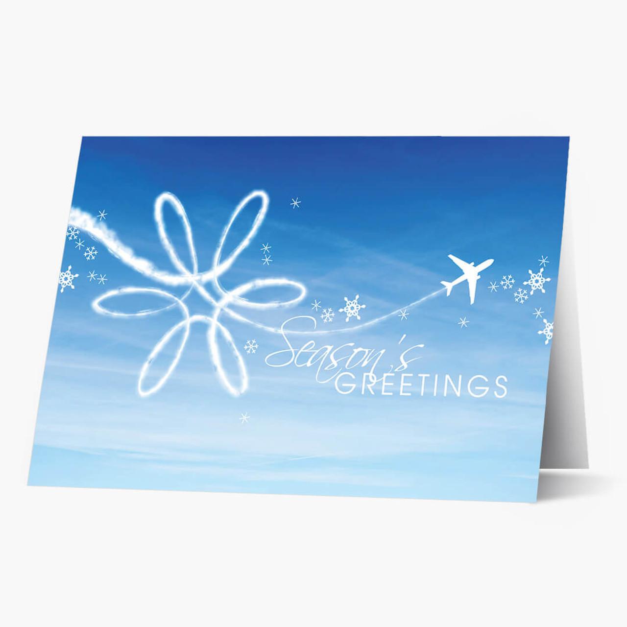 Airplane Art Christmas Card