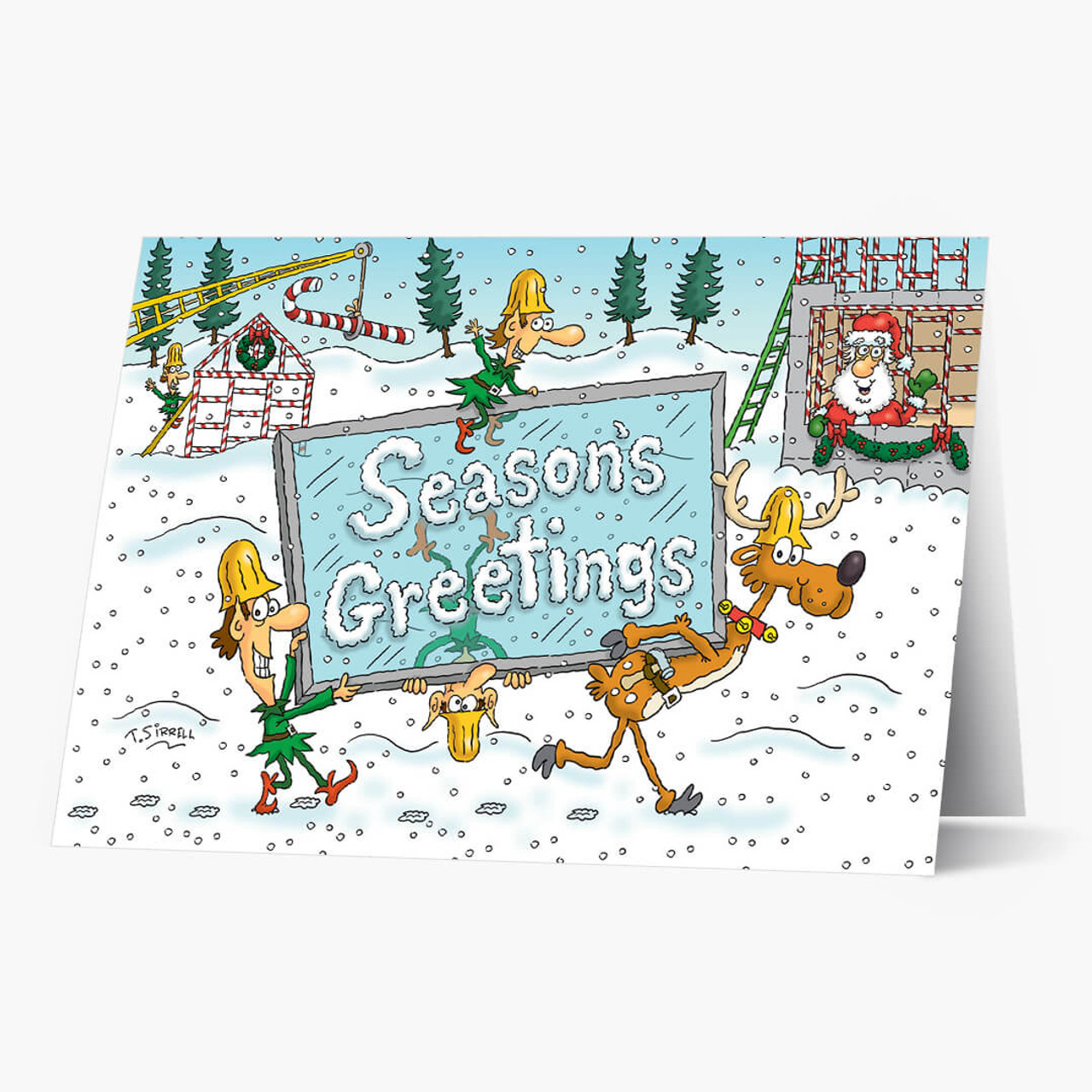 Construction Humor Christmas Card