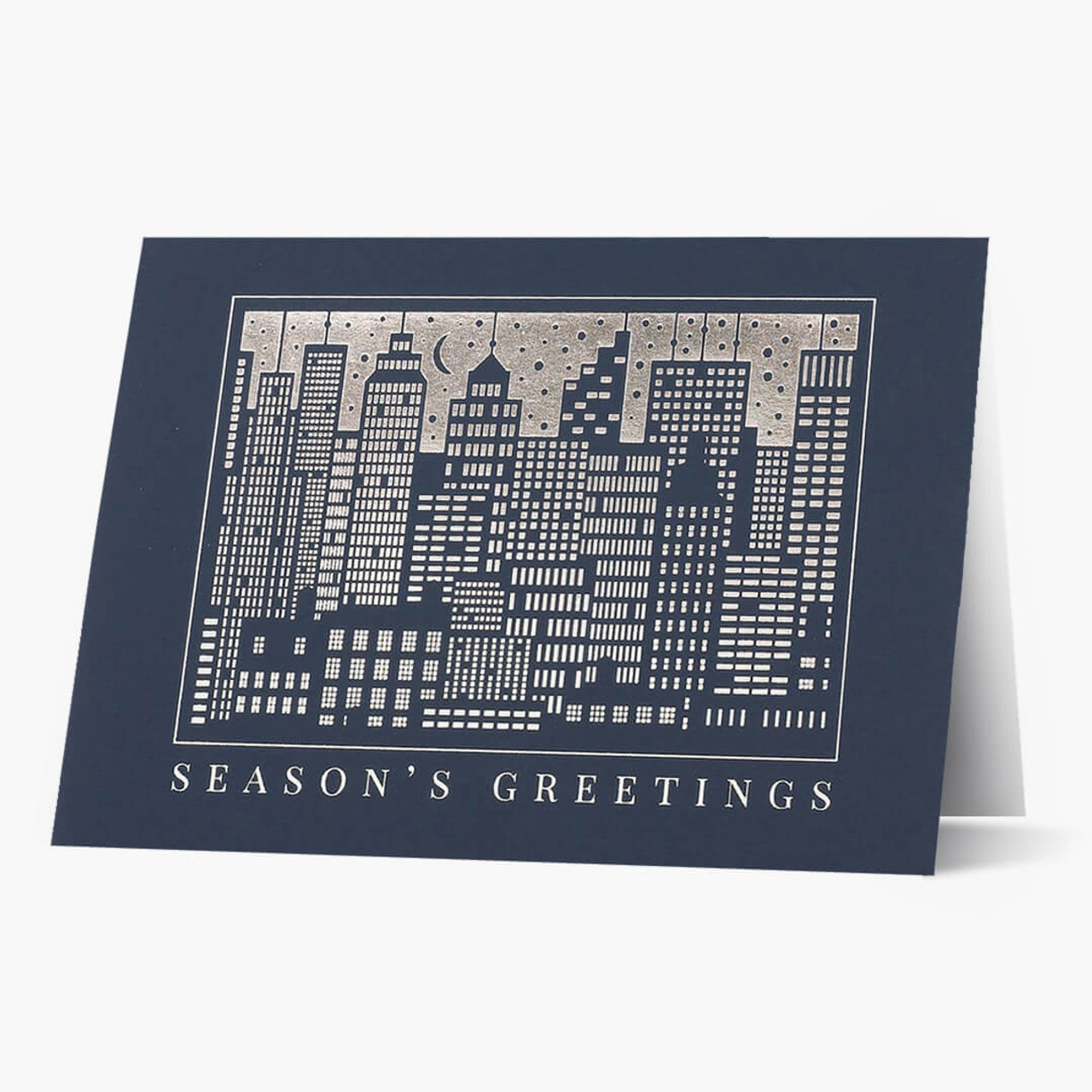 Gleaming Cityscape Christmas Card