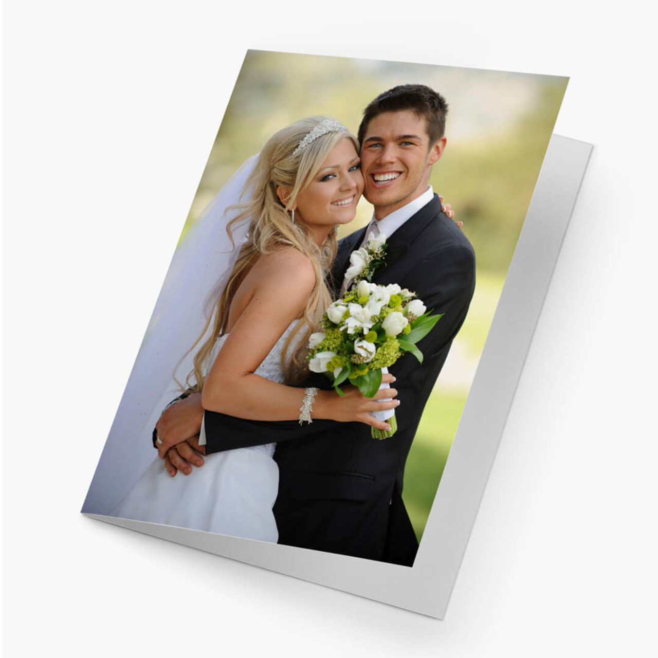 A Borderless Vertical - Semigloss Photo Card