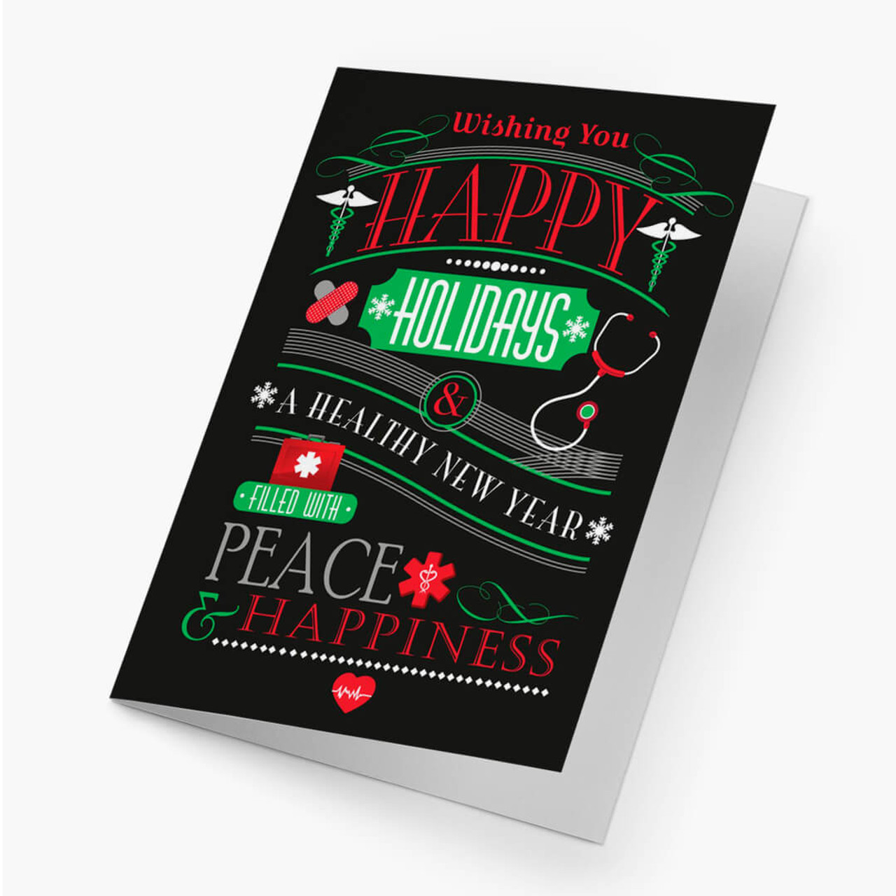 Healthy New Year Christmas Card