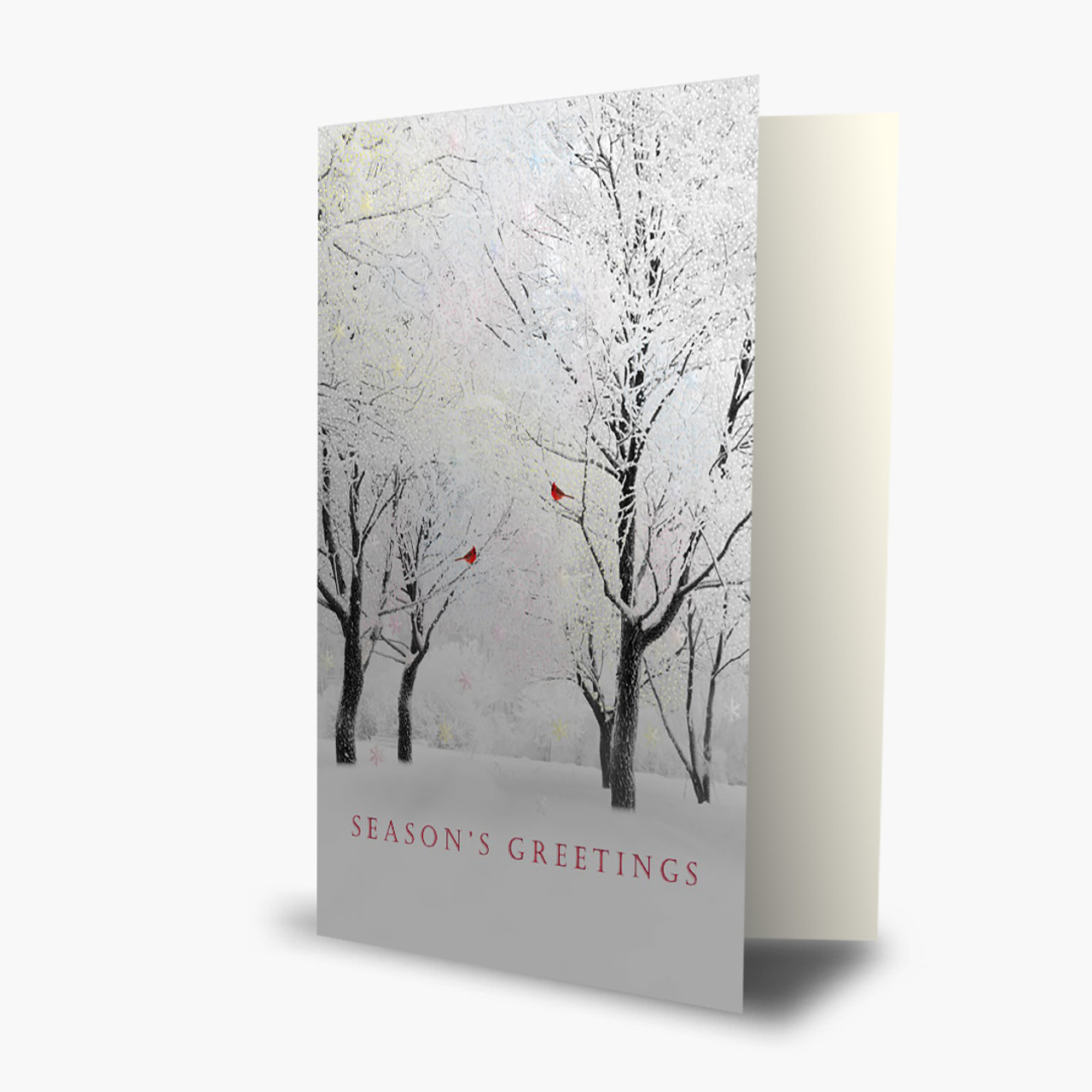 Shimmering Trees Christmas Card